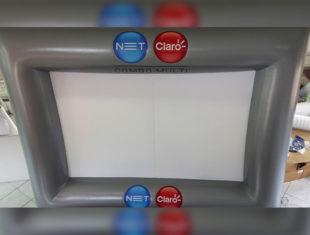Infláveis Interativos - Tela de Projeção - Net Claro