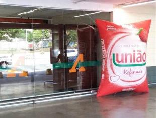 Réplica e Displays Infláveis - Açúcar União