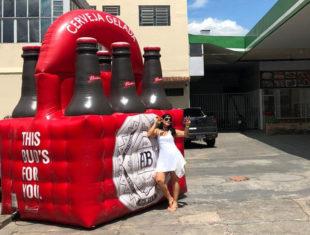 Réplica e Displays Infláveis - Engradado Budweiser