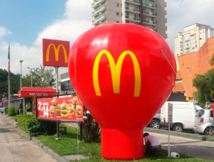 Balão Roof Top - MC Donald's